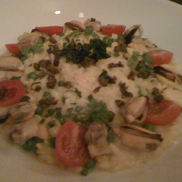 Saffron Shellfish Risotto - New Well Tavern, Richmond, BC