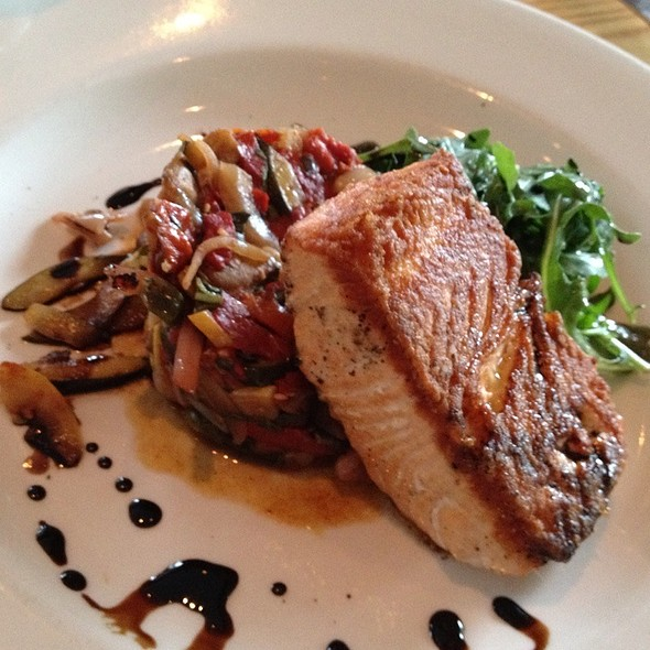 King Salmon With Ratatouille - Roots Restaurant and Bar, Camas, WA