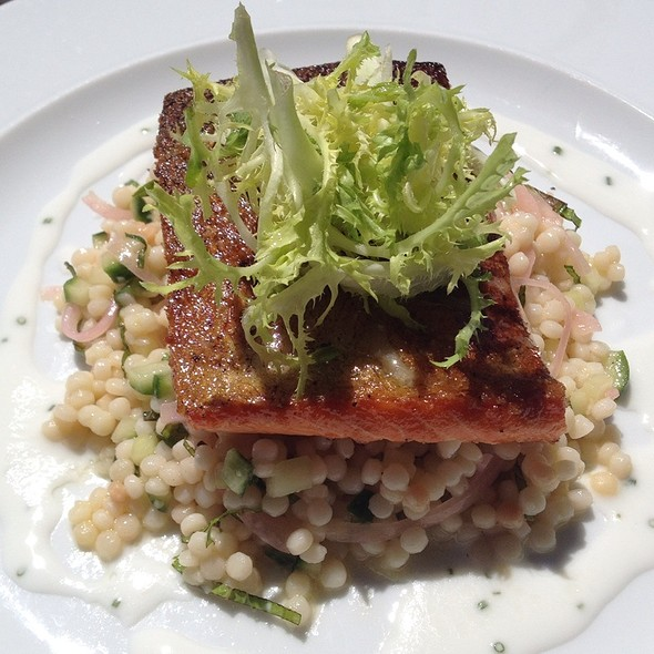 Trout With Israeli Couscous & Mint Yoghurt Dressing - Quails' Gate Estate Winery - Old Vines Restaurant, Kelowna, BC