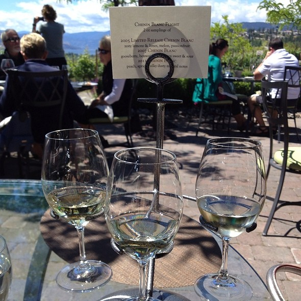 Chenin Blanc Wine Flight - Quails' Gate Estate Winery - Old Vines Restaurant, Kelowna, BC