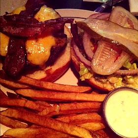 Bacon Cheese Burger - Vic & Anthony's Steakhouse - Houston, Houston, TX