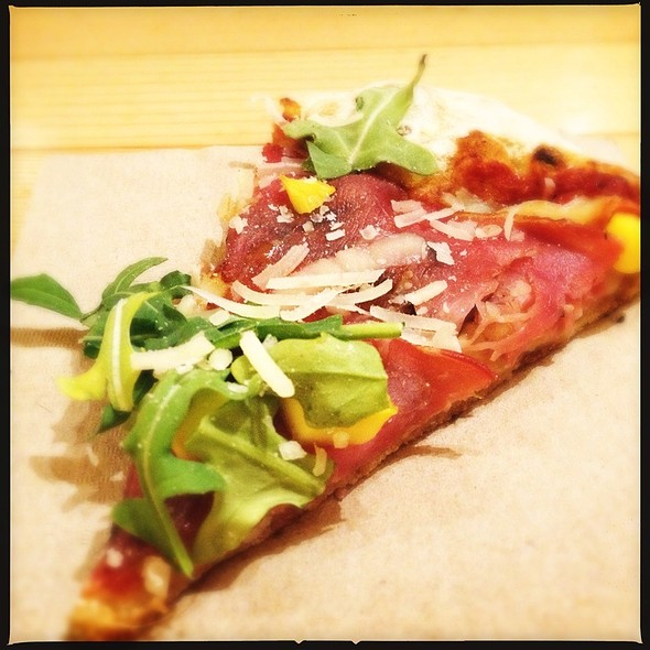 Parma Ham Pizza - Rocky Mountain Flatbread Co - Main St, Vancouver, BC