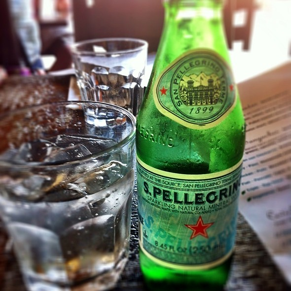 San Pellegrino Sparkling Water - Cafe Secret, Del Mar, CA