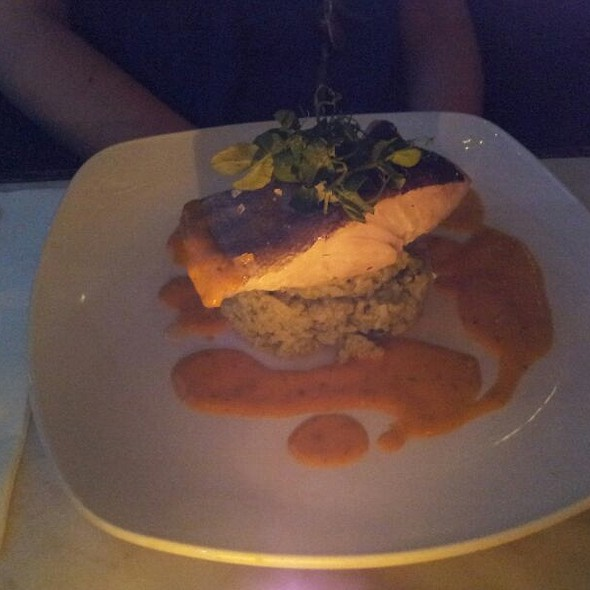 Pollack on Green Rice - The Wet Fish Café, London