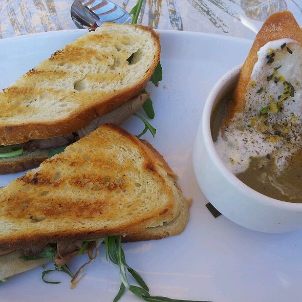 Lamb Sandwich With Asparagus Soup - Summerhill Pyramid Winery - Sunset Bistro, Kelowna, BC