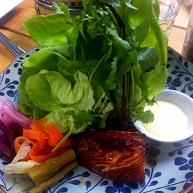 Black Cod Lettuce Wrap - Sidedoor Contemporary Kitchen & Bar, Ottawa, ON