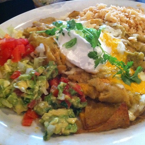 Chilaquiles Verdes - La Margarita Restaurant & Bar, Indianapolis, IN