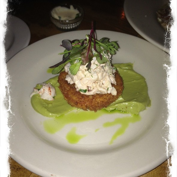Lobster Salad, Fried Tomato & Avocado Puree - Anneke Jans, Kittery, ME