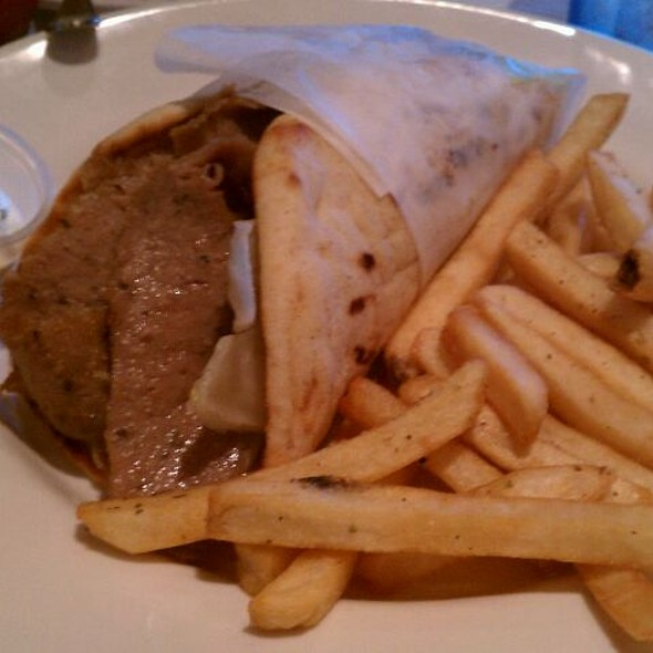 Gyros with fries and Tsatziki - Olympia Cafe, Palm Beach Gardens, FL