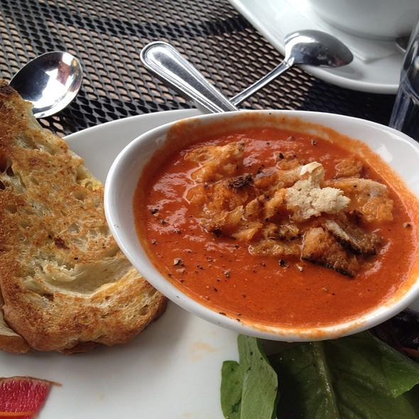 Ham And Cheese Panini And Tomato Soup - Willow Creek Restaurant, Evergreen, CO
