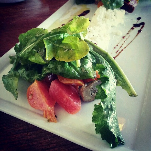 Burrata Panzanella Salad - Rustic Canyon Wine Bar, Santa Monica, CA