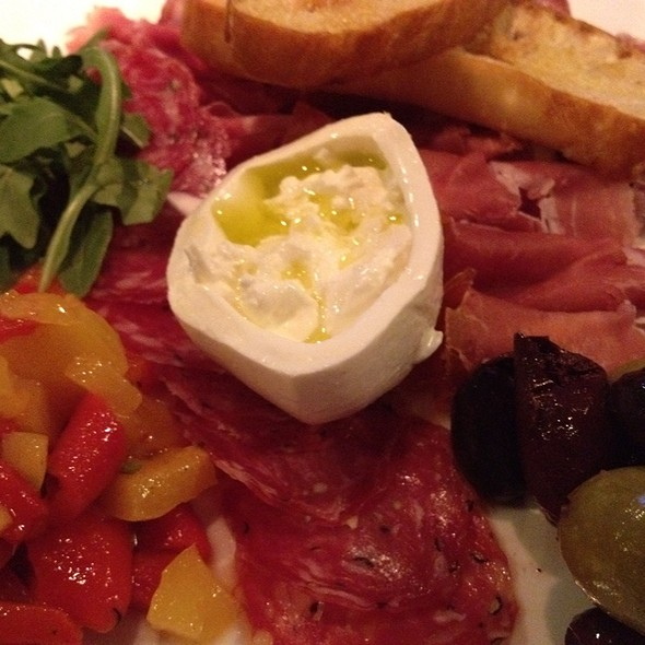 Salumi Plate With Fresh Mozzarella, Arugula, Olives, And Roated Peppers - Fresh Salt, Old Saybrook, CT