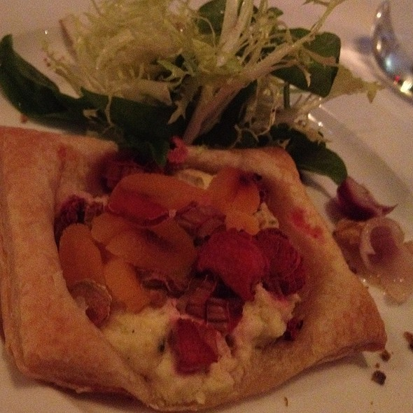 Rubarb And Apricot Tartelet With Bee Polllen And Greens - AG at The Sterling, Niagara Falls, ON