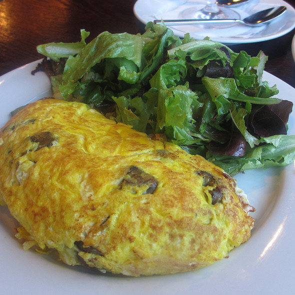 Local Breakfast Omelette with Goat Cheese and Mushrooms - Prairie Grass Café, Northbrook, IL