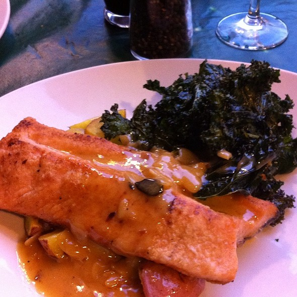 Trout With Saffron Potatoes & Crispy Kale - Toscanini, Avon, CO