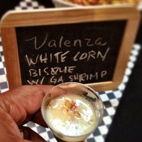 White Corn Bisque - Valenza Restaurant, Atlanta, GA