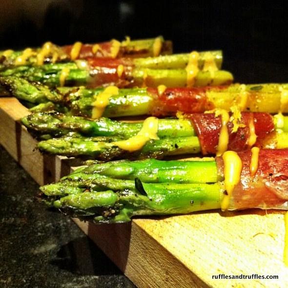 Prosciutto Wrapped Asparagus - Ciro's Speakeasy and Supper Club, Tampa, FL