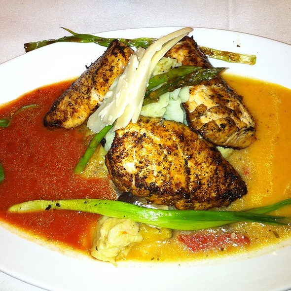 Salmon Meddalions In A Spicy Yellow And Jersey Tomato Coulis - 410 Bank Street, Cape May, NJ