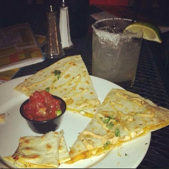 Chicken Quesadilla & Habenero Margarita - Solid Grill & Bar, Boise, ID