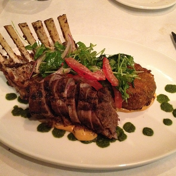 Grilled New Zealand Rack Of Lamb - Blue Ginger, Wellesley, MA