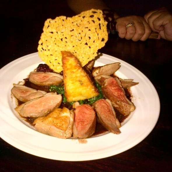 Duck Breast with blackberry brandy sauce - Two25, Peoria, IL