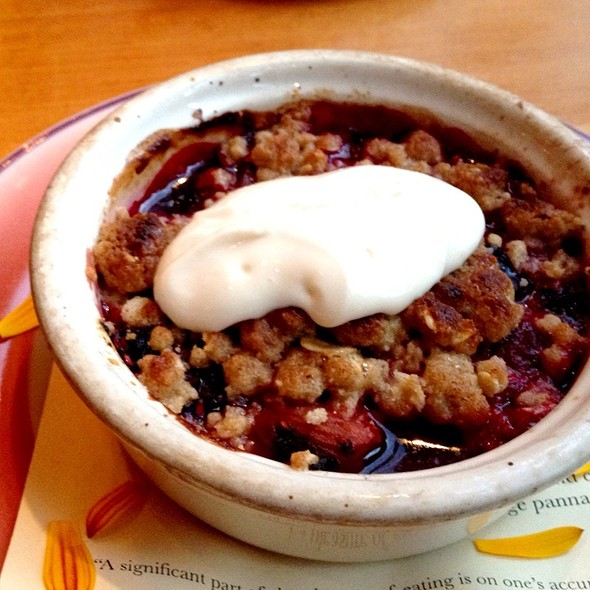 Mixed Berry Crisp, Sour Cream Sauce - Ned Ludd, Portland, OR
