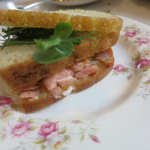 Salmon Sandwich - The Modern Pantry Clerkenwell, London