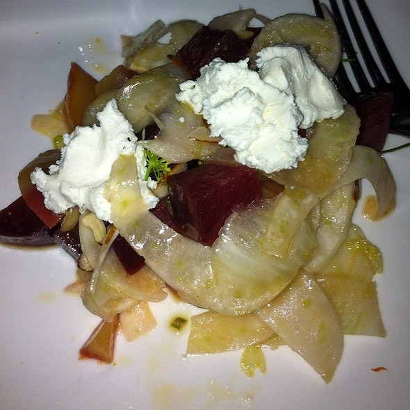 Roasted Beets With Fennel Feta And Red Onions - Acre Restaurant, Chicago, IL