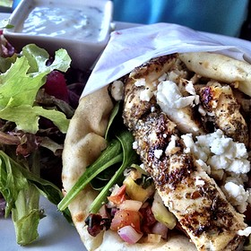 Mediterranean Chicken Pita - Brockton Villa, San Diego, CA