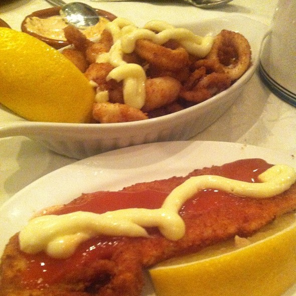 Breaded Seafood Medley And Breaded Flying Fish - Casa Barcelona, Etobicoke, ON