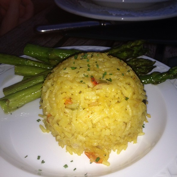 Asparagus And Rice Ball - Black Bass Hotel, Lumberville, PA