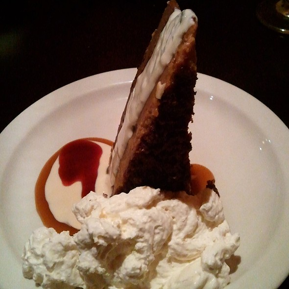 Chocolate Cheese Cake with Ice Cream - Mavor's Restaurant and Bar, Charlottetown, PE