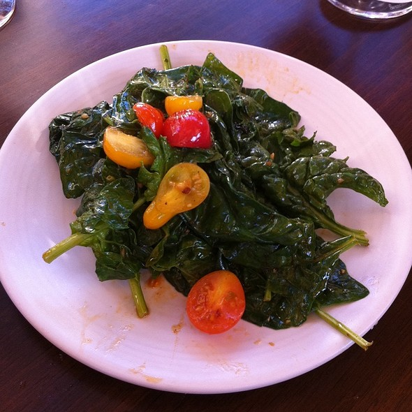 Sauteed Bloomsdale Spinach - Va de Vi Bistro & Wine Bar, Walnut Creek, CA