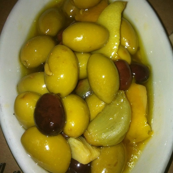 Marinated Olives With Garlic And Lemon Peell - Brasserie by Niche, St. Louis, MO