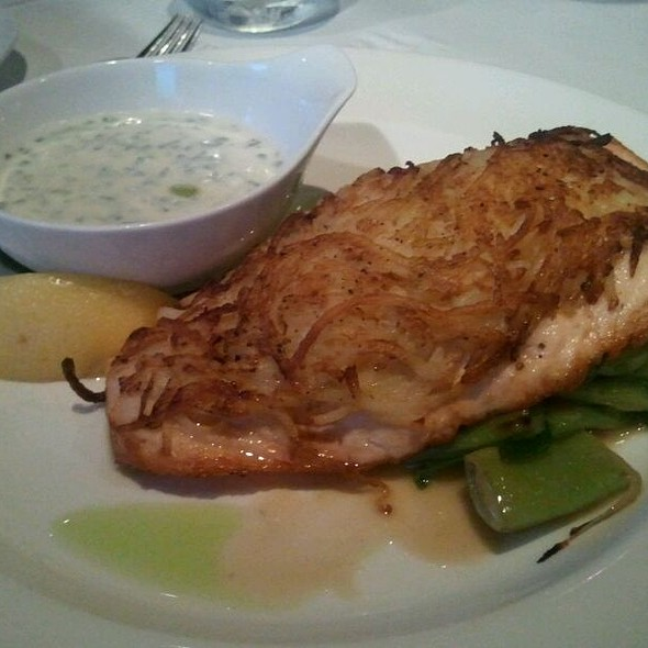Horseradish Potatoe Crusted Salmon - Central Park Bistro, San Mateo, CA