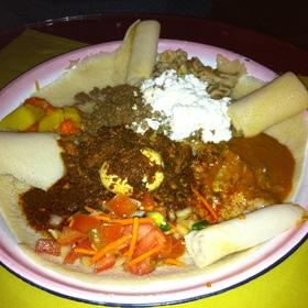 Doro Wat and Kitfo - Arada Ethiopian Restaurant, Denver, CO