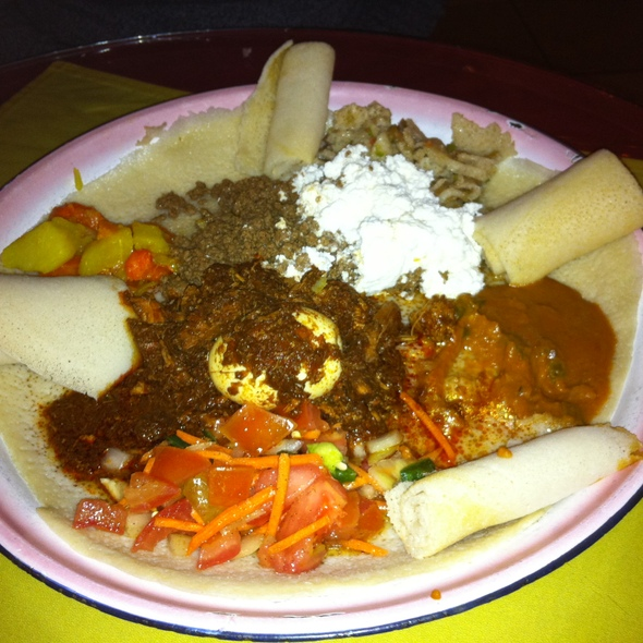 Doro Wat and Kitfo - Arada Ethiopian Restaurant, Denver, CO