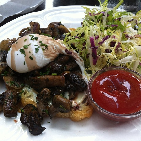 Open-Faced Mushroom Sandwich - Mon Ami Gabi - Bethesda, Bethesda, MD