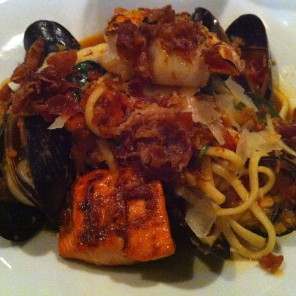 Smoked Tomato Seafood Pasta - Boathouse Richmond, Richmond, BC