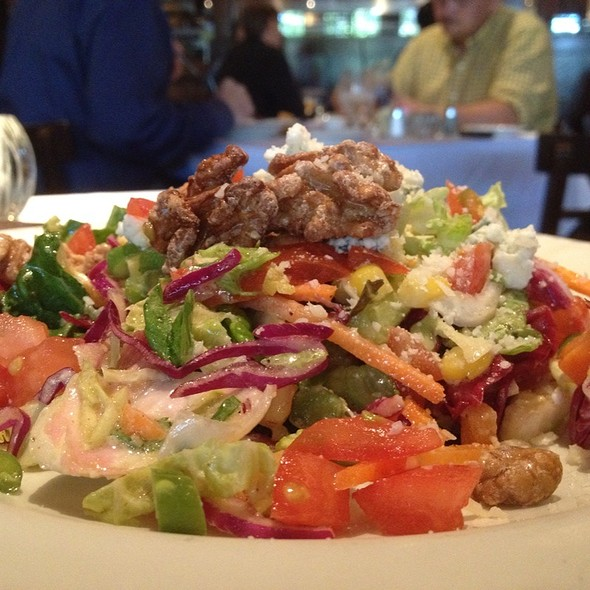 April's Chop Salad ~ Lettuce • Blue Cheese • Vegetables • Walnuts • Lemon Basil Dressing  - Chamberlain's Fish Market Grill, Addison, TX