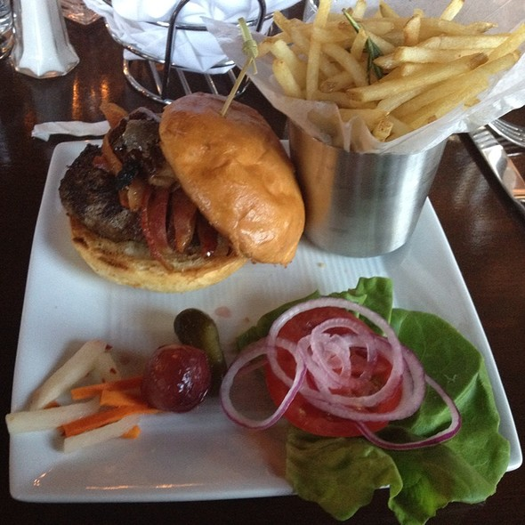 Burger (Dp Burger W/ Bacon, Fois Gras, Red Onions, And Butter Lettuce) - dp An American Brasserie, Albany, NY