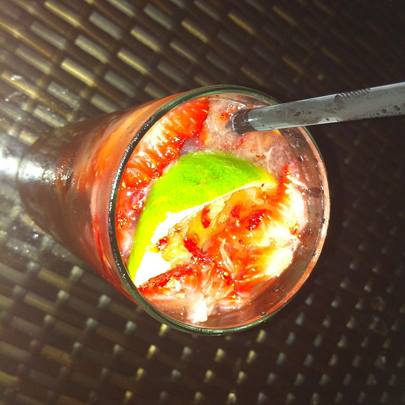 Strawberry Caipirinha - Lakeside Bar + Grill, Celebration, FL