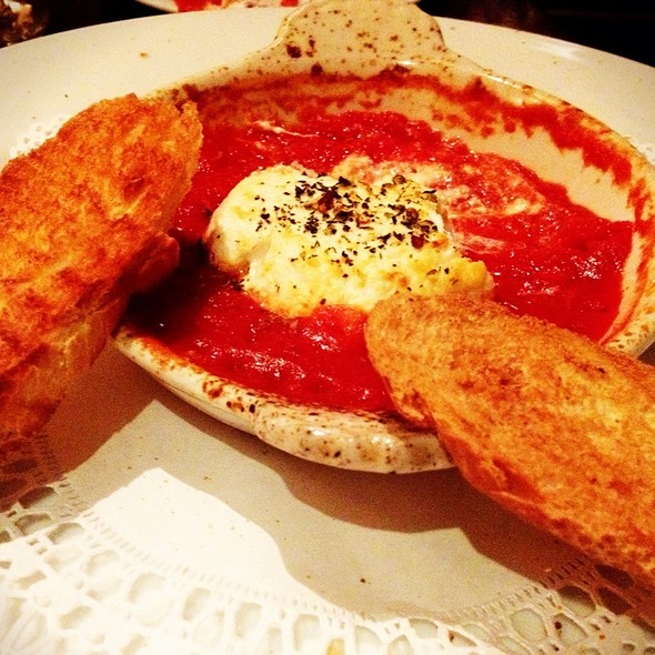 Bruschetta With Baked Goat Cheese And Marinara - La Bottega - Vail, Vail, CO
