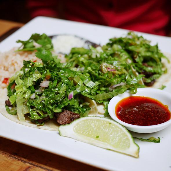 Tacos de Carne Asada con Chile de Arbol - Papatzul, New York, NY
