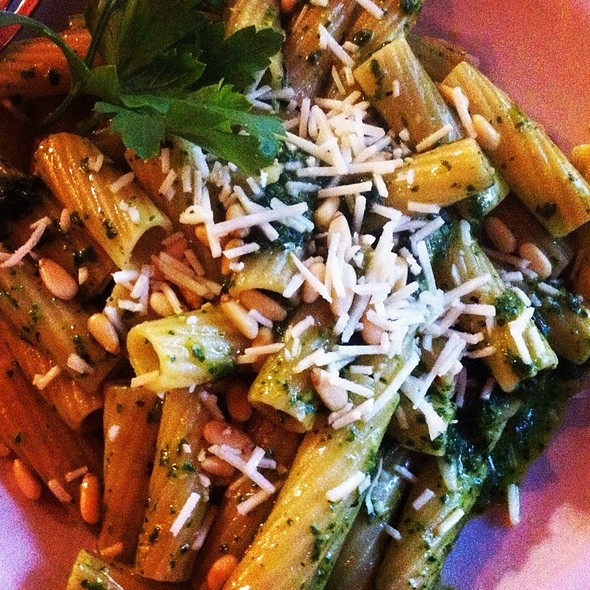 Pine Nut And Basil Pasta - Yvonne's Cafe, Ocean Grove, NJ