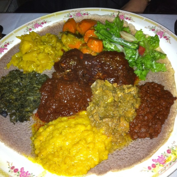 Veggie Combo & Meat Combo - Ethiopia Restaurant, Berkeley, CA
