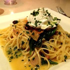Pasta Carbonara - Angelique Euro Cafe, Coral Gables, FL