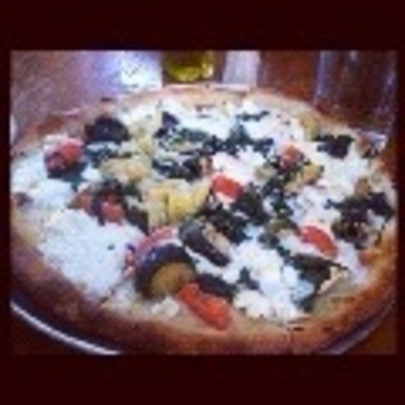 Roasted Veggie And Ricotta Pizzette - Acqua at Peck Slip, New York, NY