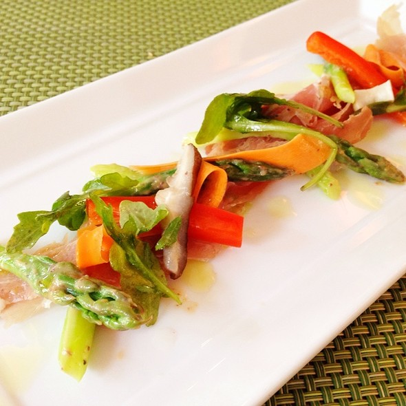 Niagara Prosciutto, Green Asparagus, Pickled Vegetables - The Chefs' House - George Brown College, Toronto, ON
