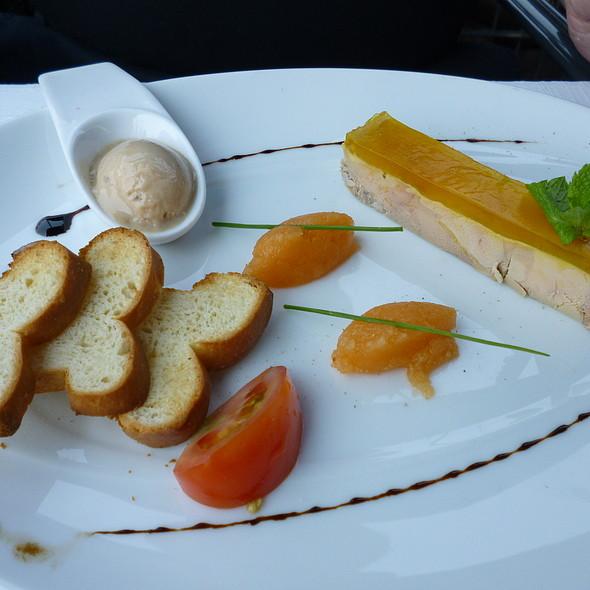 Foie gras Terrine with Foie gras Ice Cream and Melon - Altes Fischerhaus, Düsseldorf, NW